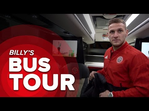 BEHIND THE BLADES | Tour The Blades New Bayliss Team Bus With Billy Sharp