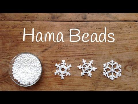 Adornos navideños para niños, unos copos de nieve de hama beads fáciles
