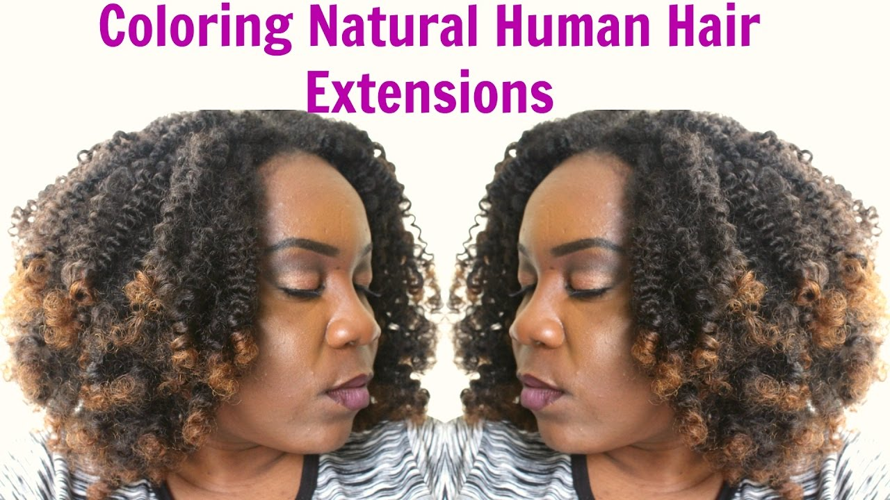 How To Color Afro Kinky Clip In Natural Hair Extensions Xoticahair