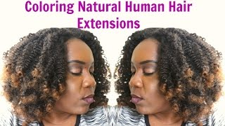 How To Color AFRO KINKY CLIP IN Natural Hair Extensions | XoticaHair