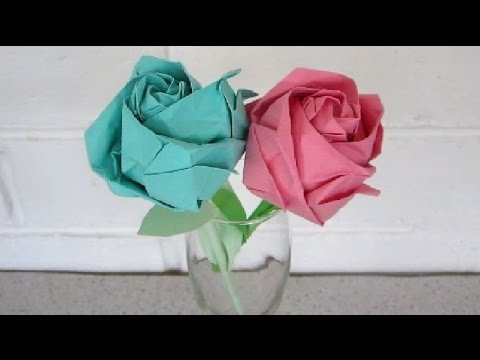 Origami Rose Instructions Revised An Easy Step By