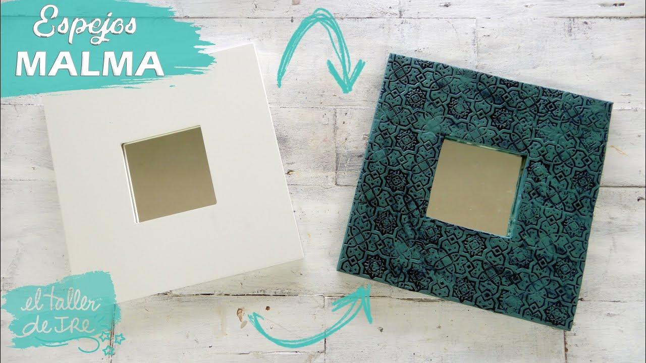 IDEA PARA DECORAR TUS ESPEJOS MALMA DE IKEA - YouTube