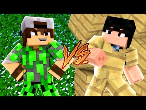 Minecraft: CORRIDA PVP - FOLHA vs MADEIRA!