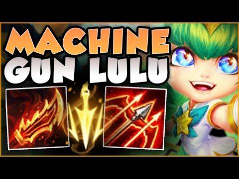 STOP PLAYING LULU WRONG! MACHINE GUN LULU 100% DOES TOO MUCH DMG! LULU GAMEPLAY! - League of Legends