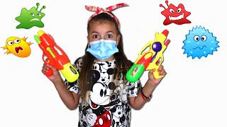 Masha and the Children's Story about viruses  Kids Stay at Home