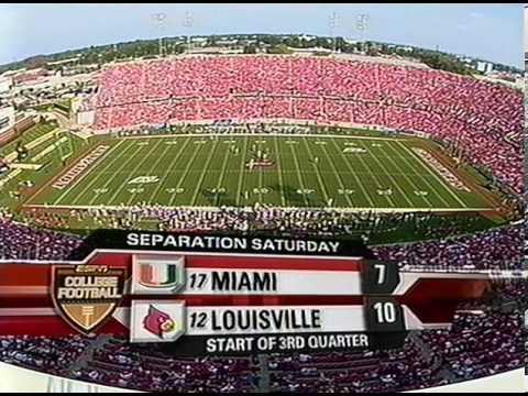 2006 Football - #12 Louisville Vs #17 Miami - Full Game