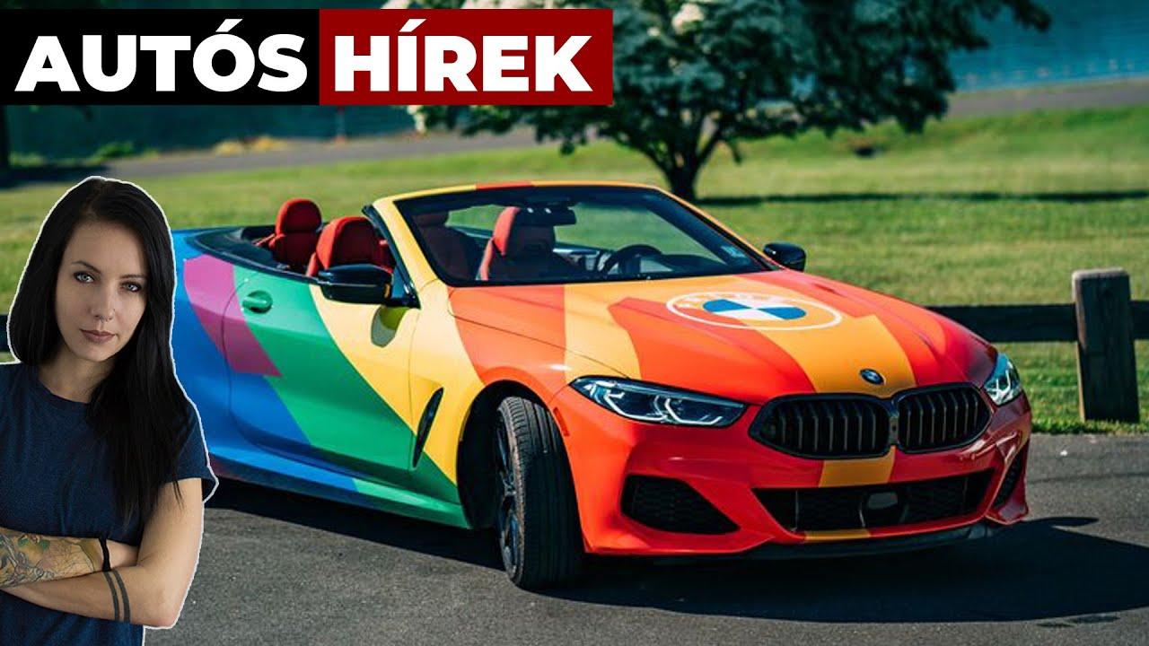 Szivárványszínű BMW 8 hirdeti a büszkeséget - Autós hírek | Alapjárat