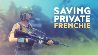 FIRST WIN! SAVING PRIVATE FRENCHIE (Fortnite Battle Royale)