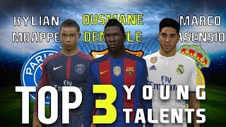 Top 3 Young Talents • Dream League Soccer 2017 • Skills & Goals • Best Wonderboys in Football 2017