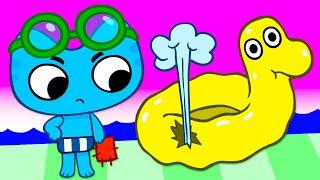 Котики, вперед! - Приключения в аквапарке (28 серия)
