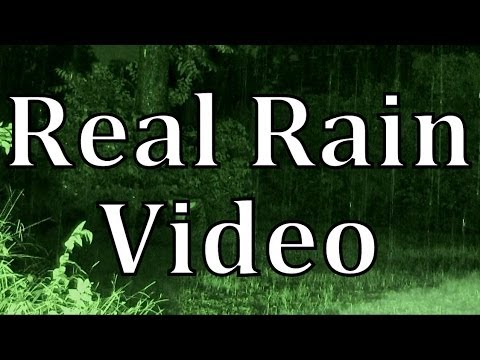"Rainstorm at Night 90mins ""Real Video and Audio"""