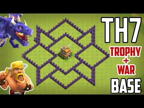 2019 | NEW TH7 BASE | TROPHY + FARMING BASE | HYBRID BASE.