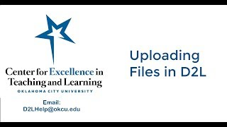 Uploading Files to D2L New Content Experience