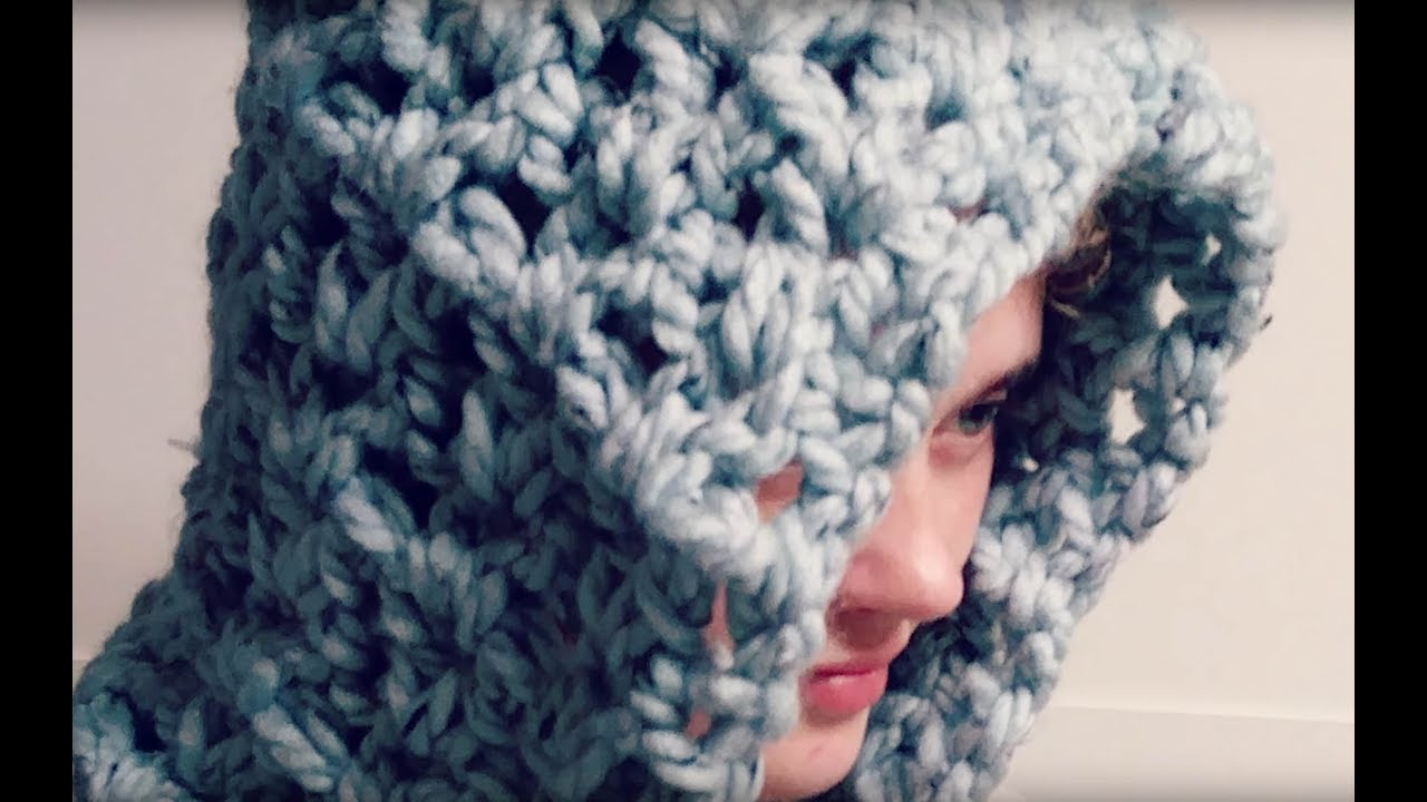 Hooded Scarf Crochet Tutorial Youtube