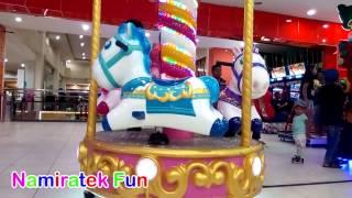 Mainan Anak Bermain Naik Odong-odong & bersama teman-teman di Mall yang asiknya dan seru banget