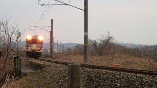 列車番号831D 普通列車 羽越本線(村上~間島)>60P 「三面川橋梁通過。」