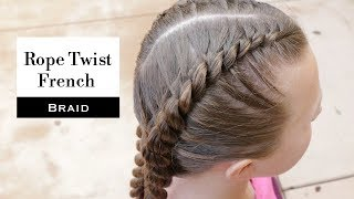 Rope Twist French Braid by Erin Balogh