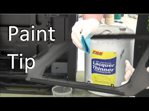 Tool Tip #2 Prep Powder Coat For Paint