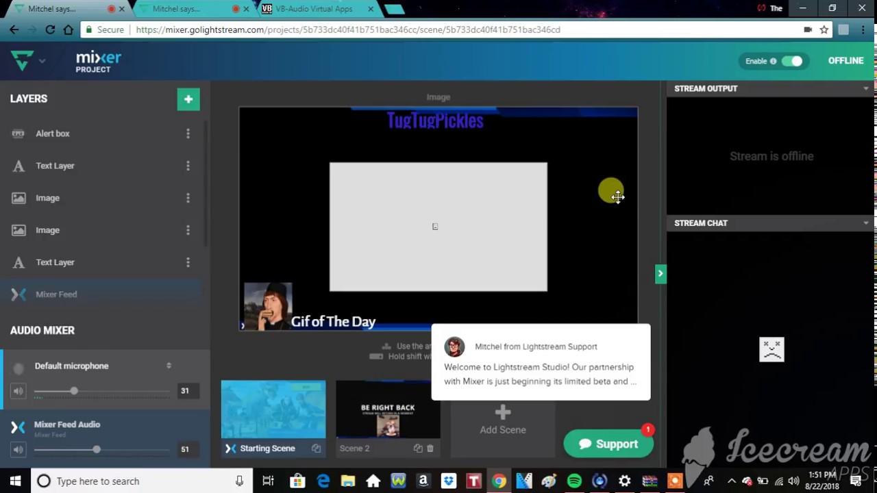 How to Stream Music on Mixer (using Lightstream) : LightTube