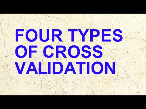 Four Types Of Cross Validation| K-Fold | Leave One Out |Bootstrap | Hold Out