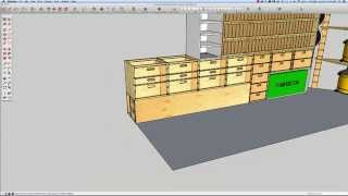 Building A Mobile Woodshop (part 10) Design A Mobile Woodshop Cabinet.