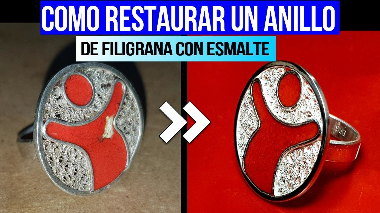 COMO RESTAURAR UN ANILLO de filigrana con esmalte.(how to restore a ring)