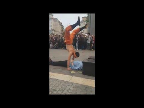 Jackie Chan Chan Street performer Bristol harbor fest