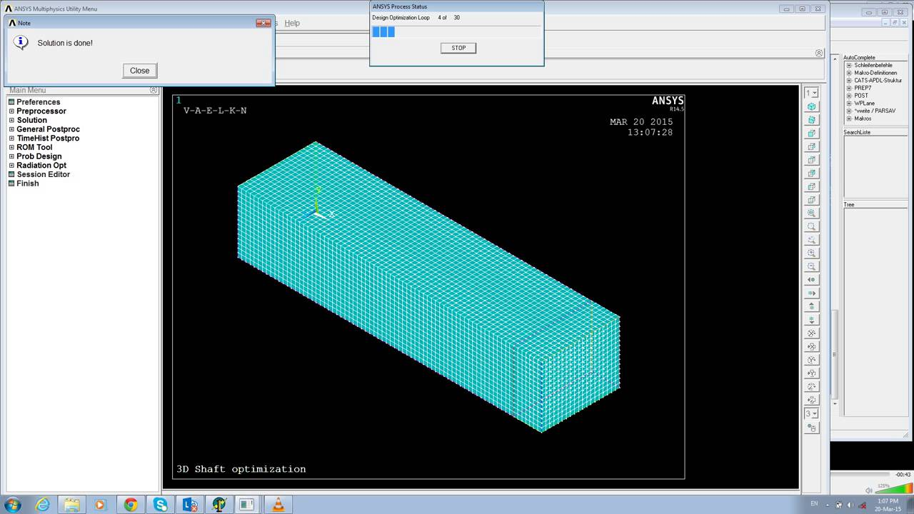 FEA and Optimization of Cantilever beam for minimum weight