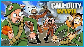Call of Duty: World War II Funny Moments! - Gridiron Championships! (Funny Custom Game Modes!)