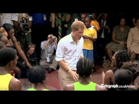 Prince Harry shows off his reggae moves in Jamaica