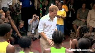 �������� ���� Prince Harry shows off his reggae moves in Jamaica ������