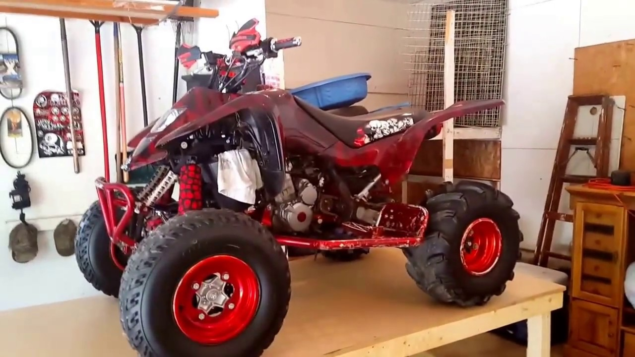 full custom graphics suzuki ltz 400 the red demon youtube. Black Bedroom Furniture Sets. Home Design Ideas