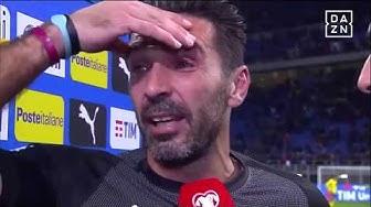 Interview Gianluigi  Buffon nach seinem letzten Spiel für Italien | DAZN - Fußball