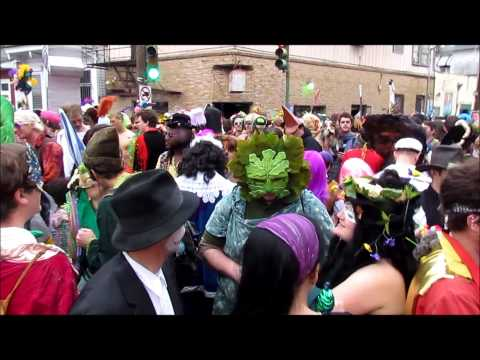 Mardi Gras in New Orleans 2013: Saint Anne's Parade in Faubourg-Marigny