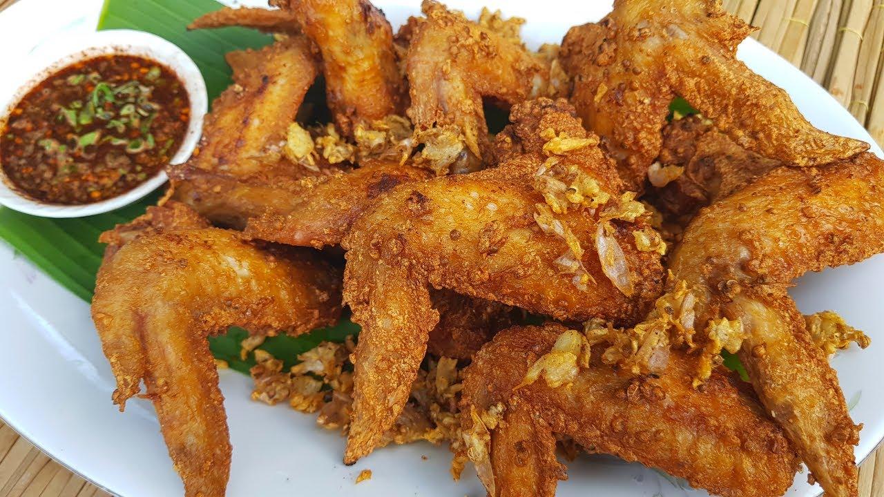 กับข้าวกับปลาโอ 793 ไก่ทอดลำพูน(ปีกไก่ทอดเม็ดผักชี) กรอบนอกนุ่มใน หอมเม็ดผักชี Fried chicken wing LP