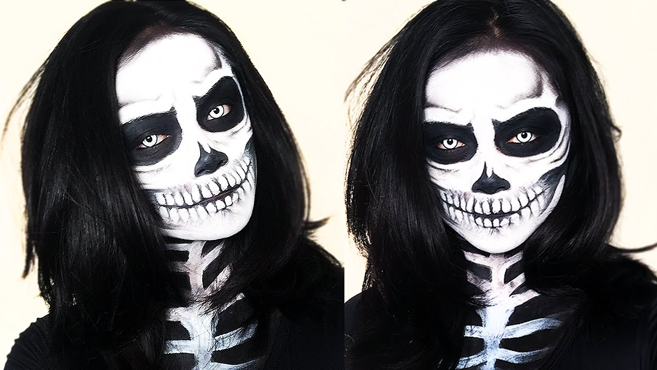 Skeleton Makeup Halloween Tutorial | Brigette Ramos - YouTube