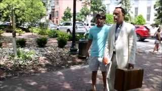 Forrest Gump Returns to Chippewa Square Savannah