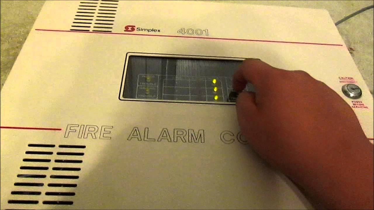 simplex 4001 test 1 youtube rh youtube com Fire Alarm Bell Trip Fire Alarm Strobe Only