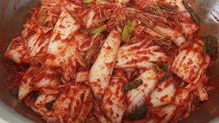 식당 배추겉절이 담그는법 김치 먹으러 간다는 대박식당 겉절이
