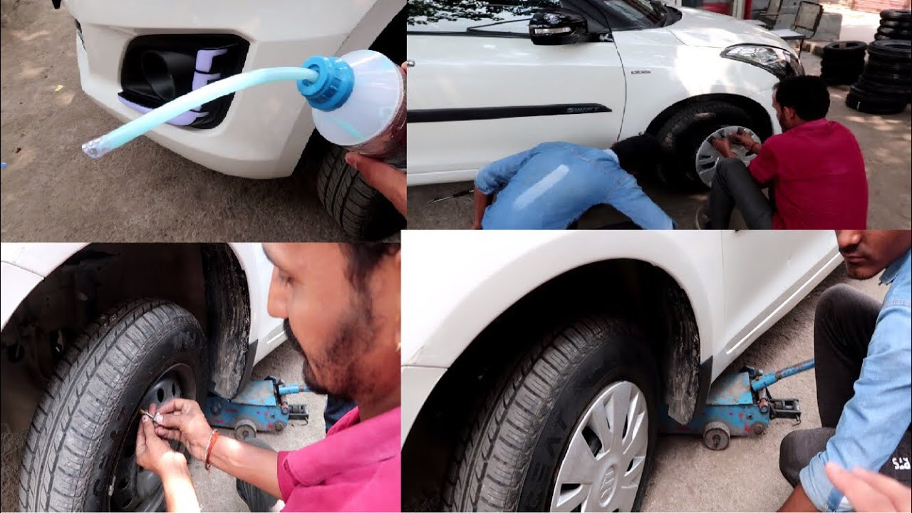 My Car Tyre Are Puncture Free | Car Puncture Sealant | Puncture | Installing Sealant inside Car