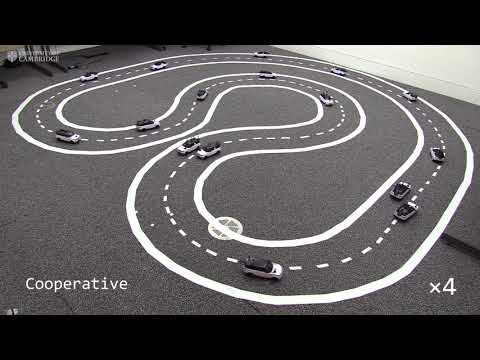 See Mini Self-Driving Cars Work Together to Improve Traffic Flow