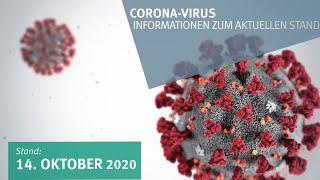 14. Oktober 2020: Corona-Virus - Informationen zum aktuellen Stand (am 14.10.2020 um 13:37)