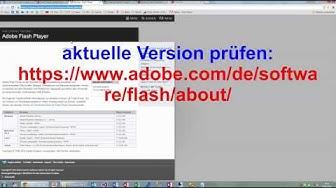 Adobe Flash Player manuell updaten. Schutz vor Trojaner Lücke