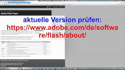 Adobe Flash Player manuell updaten. Schutz vor Trojaner Lücke
