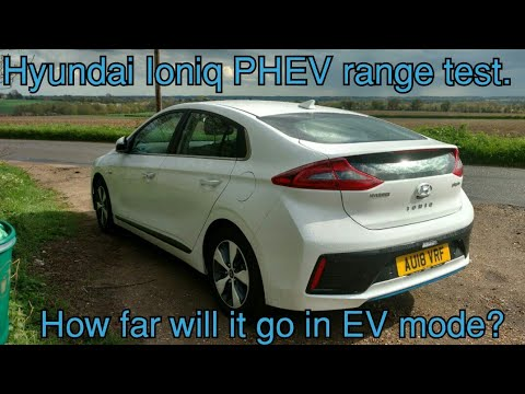 Hyundai Ioniq Plug In Hybrid 2018 Ev Range Test How Far Can It Go On Electric Only More Than Prius