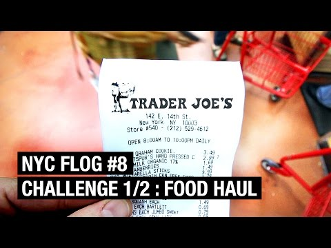 FOOD HAUL ! Trader Joe's Challenge 1/2  |  NYC FLOG #8