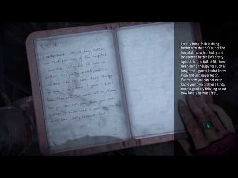 Until Dawn: Secret Page in Hannah's Diary