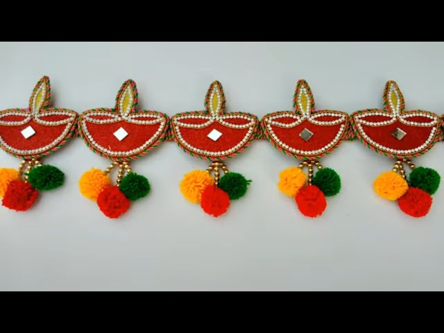DIY DOOR HANGING TORAN MAKING FROM DEPAK || DIWALI SPECIAL DOOR HANGING TORAN MAKING AT HOME ||