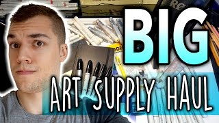 BIG Art Supply Haul + Copic Unboxing