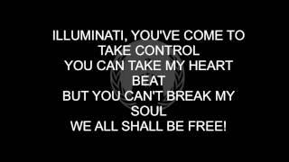 illuminati song anonymous lyrics on screen